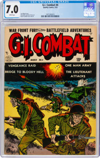 G.I. Combat #4 (Quality, 1953) CGC FN/VF 7.0 White pages
