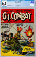 Golden Age (1938-1955):War, G.I. Combat #5 (Quality, 1953) CGC FN+ 6.5 White pages....
