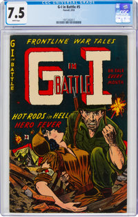 G-I in Battle #5 (Farrell, 1953) CGC VF- 7.5 White pages