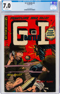 Golden Age (1938-1955):War, G-I in Battle #6 (Farrell, 1953) CGC FN/VF 7.0 White pages....