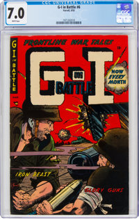 G-I in Battle #6 (Farrell, 1953) CGC FN/VF 7.0 White pages