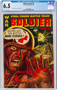 Soldier Comics #8 (Fawcett Publications, 1953) CGC FN+ 6.5 Off-white to white pages