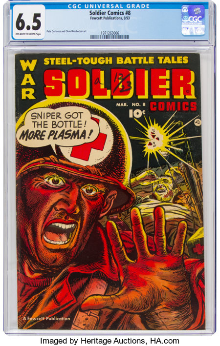 Soldier Comics #8 (Fawcett Publications, 1953) CGC FN+ 6.5 Off-white to white pages....