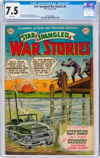 Star Spangled War Stories #6 (DC, 1953) CGC VF- 7.5 White pages