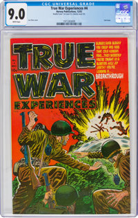 True War Experiences #4 Double Cover (Harvey, 1952) CGC VF/NM 9.0 White pages