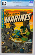 Golden Age (1938-1955):War, United States Marines #8 (Magazine Enterprises, 1952) CGC VF 8.0 Off-white to white pages....