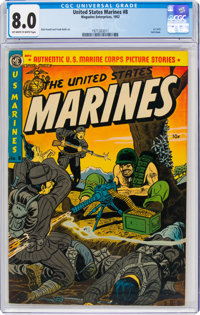 United States Marines #8 (Magazine Enterprises, 1952) CGC VF 8.0 Off-white to white pages