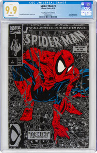 Spider-Man #1 Poly-Bagged Silver Edition (Marvel, 1990) CGC MT 9.9 White pages