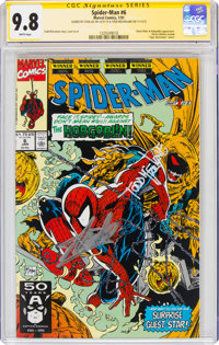 Spider-Man #6 Signature Series: Stan Lee (Marvel, 1991) CGC NM/MT 9.8 White pages
