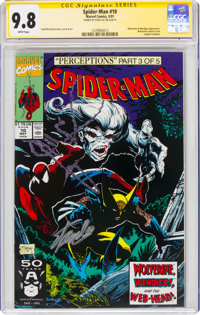 Spider-Man #10 Signature Series: Stan Lee (Marvel, 1991) CGC NM/MT 9.8 White pages