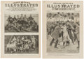 Football Collectibles:Publications, Early Football Newspaper Publications, Lot of 12. ...