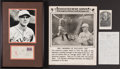 Baseball Collectibles:Others, 1922-55 George Sisler Lot of 4 with Broadside and Signed Letter, First Day Cover & Hall of Fame Plaque....