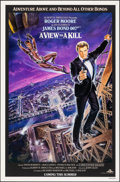 """Movie Posters:James Bond, A View to a Kill (United Artists, 1985). Rolled, Very Fine. One Sheet (27"""" X 41"""") SS Advance, Dan Gouzee Artwork. James Bond..."""