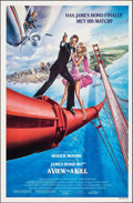 """Movie Posters:James Bond, A View to a Kill (United Artists, 1985). Rolled, Very Fine. One Sheet (27"""" X 41"""") SS Style B, Dan Gouzee Artwork. James Bond..."""