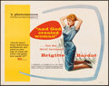 """Movie Posters:Foreign, And God Created Woman (Kingsley International, 1957). Folded, Fine/Very Fine. Half Sheet (22"""" X 28""""). Foreign.. ..."""