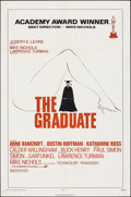 "Movie Posters:Comedy, The Graduate (Embassy, R-1972). Folded, Very Fine-. One Sheet (27"" X 41""). Comedy.. ..."
