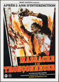 """Movie Posters:Horror, The Texas Chainsaw Massacre (Rene Chateau, 1982). Rolled, Near Mint. First Release French Petite (15.75"""" X 22""""). Horror.. ..."""