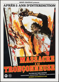 """The Texas Chainsaw Massacre (Rene Chateau, 1982). Rolled, Near Mint. First Release French Petite (15.75"""" X 22""""..."""