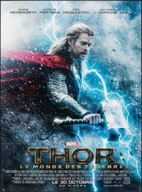 "Thor: The Dark World (Walt Disney Studios, 2013). Folded, Very Fine+. French Grande (47"" X 63"") Advance. Adven..."