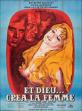 """Movie Posters:Foreign, And God Created Woman (Cocinor, R-1964). Folded, Very Fine-. French Grande (47"""" X 63"""") Rene Peron Artwork. Foreign.. ..."""