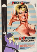 "Babette Goes to War (Columbia, 1959). Folded, Fine+. German A1 (23.25"" X 33""). Foreign"