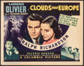 """Movie Posters:Thriller, Clouds Over Europe (Columbia, 1939). Fine/Very Fine. Title Lobby Card (11"""" X 14""""). Thriller.. ..."""
