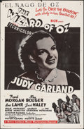 """Movie Posters:Fantasy, The Wizard of Oz (MGM, R-1958). Folded, Fine+. One Sheet (27"""" X 41""""). Fantasy.. ..."""