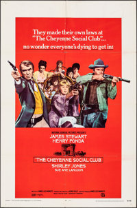 "The Cheyenne Social Club (National General, 1970). Folded, Very Fine. One Sheet (27"" X 41""). & Autographed..."