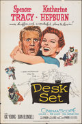 "Movie Posters:Comedy, Desk Set (20th Century Fox, 1957). Folded, Fine/Very Fine. One Sheet (27"" X 41""). Comedy.. ..."
