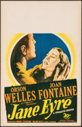 "Movie Posters:Romance, Jane Eyre (20th Century Fox, 1944). Very Fine-. Window Card (14"" X 22""). Romance.. ..."