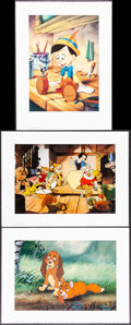 Movie Posters:Animation, Snow White and the Seven Dwarfs & Other Lot (The Walt Disney Company, R-1994). Very Fine/Near Mint. Commemorative Lithograph... (Total: 3 Items)