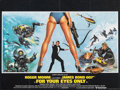 """Movie Posters:James Bond, For Your Eyes Only (United Artists, 1981). Folded, Very Fine/Near Mint. British Quad (30"""" X 40"""") Brian Bysouth Artwork. Jame..."""