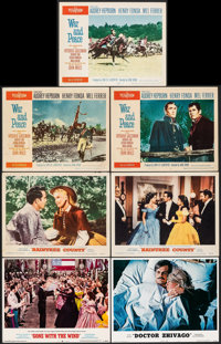 """Gone with the Wind & Other Lot (MGM, R-1968). Fine/Very Fine. Lobby Cards (15) (11"""" X 14""""). Academy Award..."""