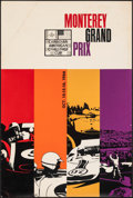 "Movie Posters:Sports, IMSA Monterey Grand Prix Lot (International Motor Sports Association, 1966/1967). Rolled, Fine+. Silk Screen Poster (22"" X 3... (Total: 2 Items)"