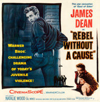 """Rebel Without a Cause (Warner Bros., 1955). Fine/Very Fine on Linen. Six Sheet (78.75"""" X 80.25"""")"""
