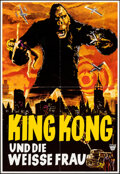 "Movie Posters:Horror, King Kong (Unitas, R-1960s). Folded, Very Fine+. German A2 (19"" X 27.25""). Horror.. ..."