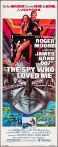 "Movie Posters:James Bond, The Spy Who Loved Me (United Artists, 1977). Folded, Very Fine-. Insert (14"" X 36""). Bob Peak Artwork. James Bond.. ..."