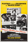 "Black Gunn (Columbia, 1972). Folded, Very Fine+. Poster (40"" X 60"") Advance, Playboy Style. Blaxploitation..."