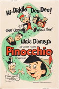 """Movie Posters:Animation, Pinocchio (Buena Vista, R-1962). Rolled, Very Fine-. Poster (40"""" X 60""""). Animation.. ..."""