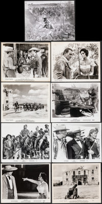 "The Alamo (United Artists, 1960/1967). Very Fine-. Photos (11) & Behind-the-Scenes Photo (8"" X 10""). Weste..."