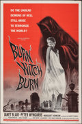 """Movie Posters:Horror, Burn, Witch, Burn! & Other Lot (American International, 1962). Folded, Very Fine-. One Sheets (2) (27"""" X 41""""). Reynold Brown... (Total: 2 Items)"""