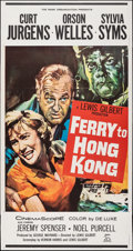 """Movie Posters:Action, Ferry to Hong Kong (20th Century Fox, 1960). Folded, Fine/Very Fine. Three Sheet (41"""" X 78""""). Action.. ..."""