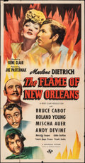 "Movie Posters:Romance, The Flame of New Orleans (Universal, 1941). Folded, Fine+. Three Sheet (41"" X 79""). Romance.. ..."