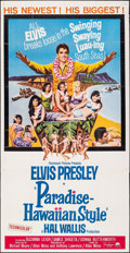 "Movie Posters:Elvis Presley, Paradise -- Hawaiian Style (Paramount, 1966). Folded, Fine/Very Fine. Three Sheet (41"" X 79""). Elvis Presley.. ..."