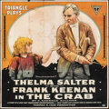 "Movie Posters:Drama, The Crab (Triangle, 1917). Folded, Fine-. Six Sheet (80"" X 82""). Drama.. ..."