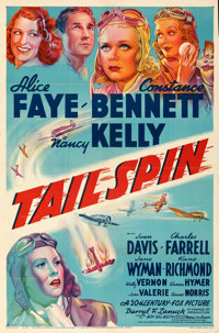 """Tail Spin (20th Century Fox, 1938). Folded, Very Fine-. One Sheet (27"""" X 41"""") Style B. From the Mike Kaplan Co..."""