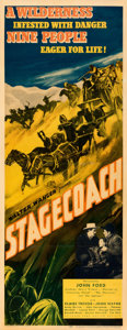 Movie Posters:Western, Stagecoach (United Artists, 1939). Very Fine- on Paper.