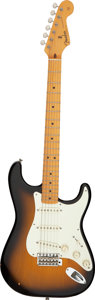 Musical Instruments:Electric Guitars, 1982 Fender Stratocaster '57 Reissue Sunburst Solid Body Electric Guitar, Serial #V001052.. ...