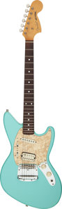 Musical Instruments:Electric Guitars, Circa 1997 Fender Jag-Stang Sonic Blue Solid Body Electric Guitar, Serial #V007461.. ...