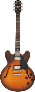 Musical Instruments:Electric Guitars, 1986 Gibson ES-335 Dot Sunburst Semi-Hollow Body Electric Guitar, Serial #80996562.. ...